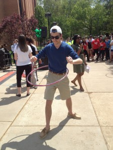 Participant in the Hula Hoop Contest